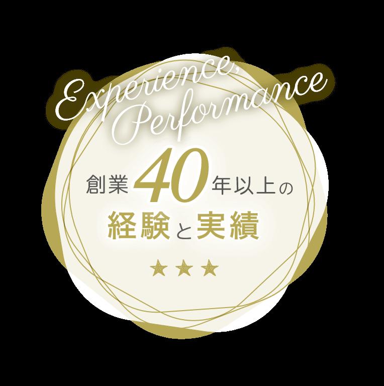 創業40年以上の経験と実績